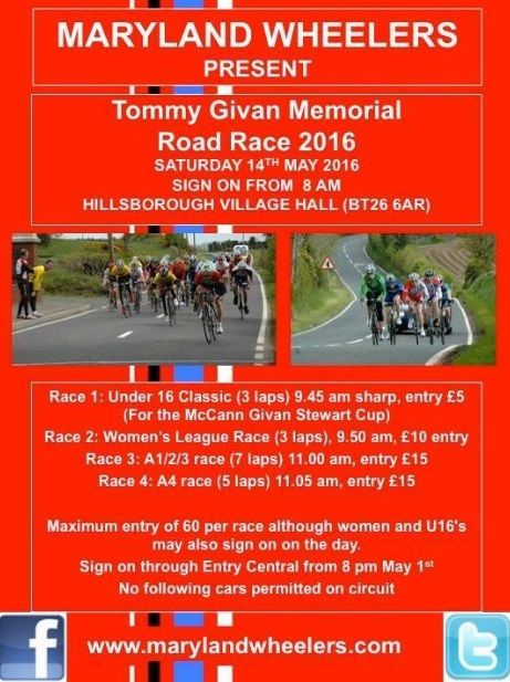 Tommy Givan Memorial. Sat 14th
