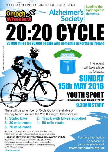 Omagh`s 20:20 Cycle Sunday 15th May