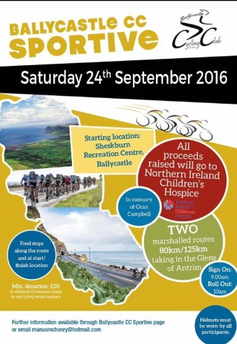 Ballycastle Sportive 24th September