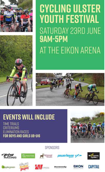 Cycling Ulster Youth Festival – Saturday 23rd June