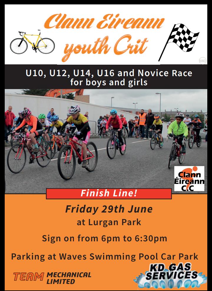 Clann Eireann Youth Crit - Cycling Ulster