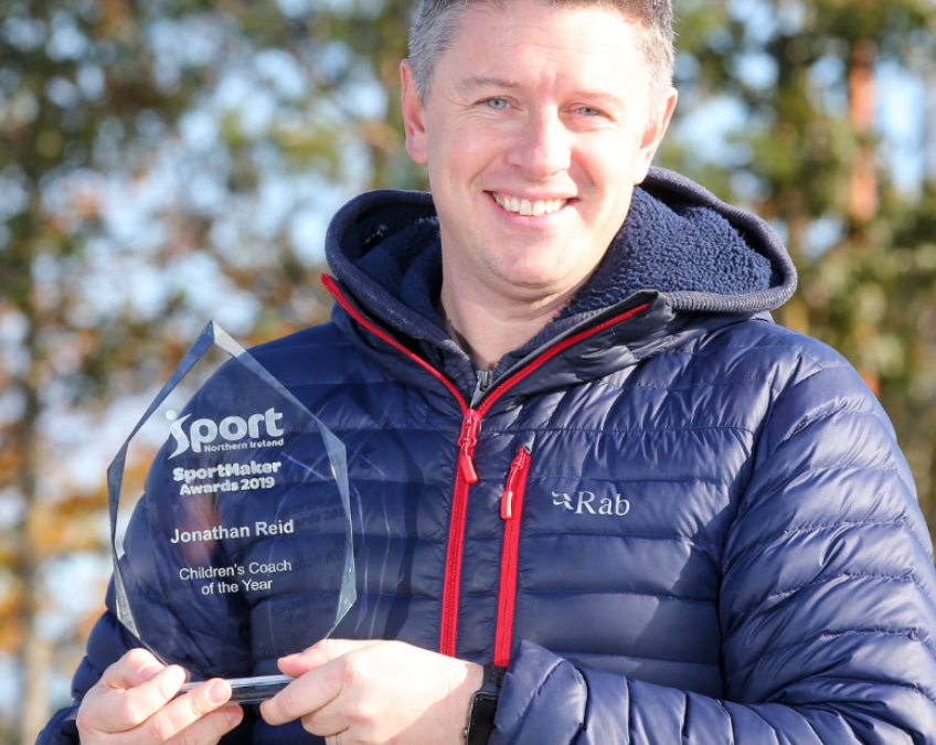 Jonathan Reid Named Sport NI's Children's Coach of the Year